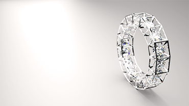 James Coleman - Cubic Framed Ring - Cinema 4D and Maxwell Render