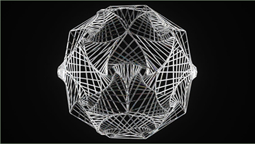James Coleman - Wireframe Spiral Dodecahedron
