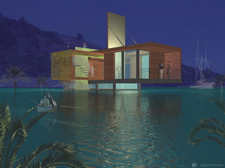 Studio Peek - Ancona 1b night rendering_sPA