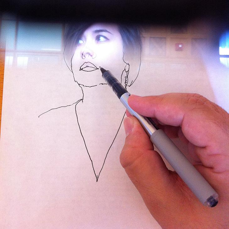 Neolucida Girl Portrait Overlay 02 SQUARE