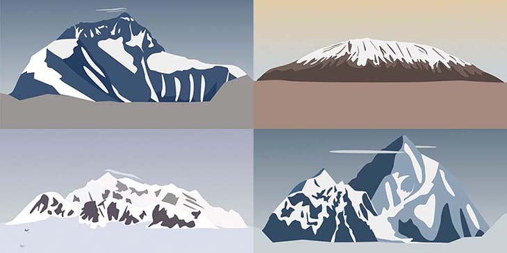 Al Boardman - love of mountains poster
