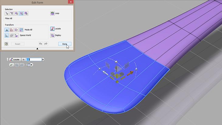 Autodesk Inventor Freeform editing a T-Splines spoon - Paul Munford