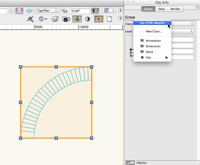 Vectorworks -l Site-DTM-Modifier