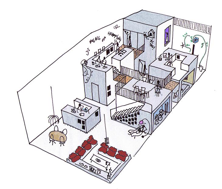 Marc Koehler- Sketch House like Village