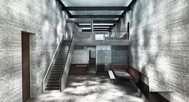 OPA-Casa Brutale Interior 02 Concrete Planks