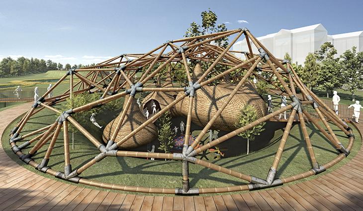 3GATTI-24 bamboo dome pavilion